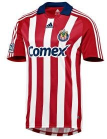 adidas Chivas USA Official Replica Home Jersey - Red/White Large