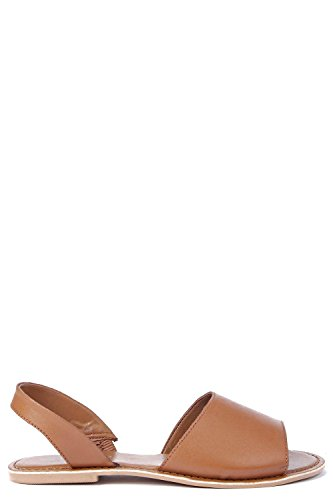 Damen Bräunen Boutique Lexi Zweiteilige Sandalen Aus Leder Mit Peeptoe Bräunen