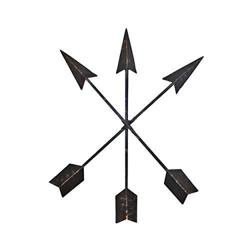 st Iron Arrow Wall Decor Set of 3 Native American Metal Arrows - Handmade Farmhouse Decor ()