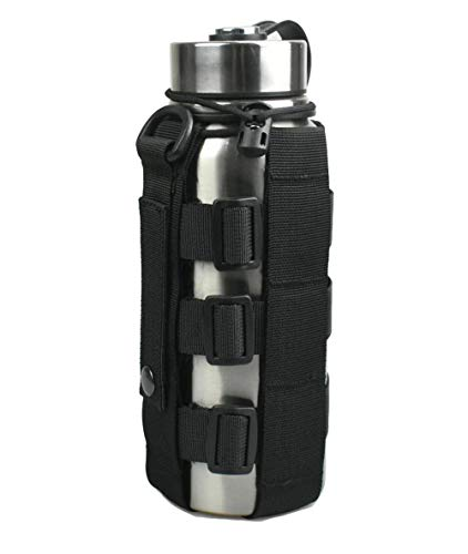 JFFCESTORE Minimalist Adjustable MOLLE Water Bottle Holder Kettle Pouch Belt Bottle Carrier for 17-42Oz Water Bottle ()