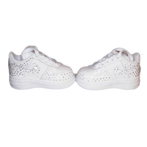 Baby Air Force One Rhinestone Sneaker