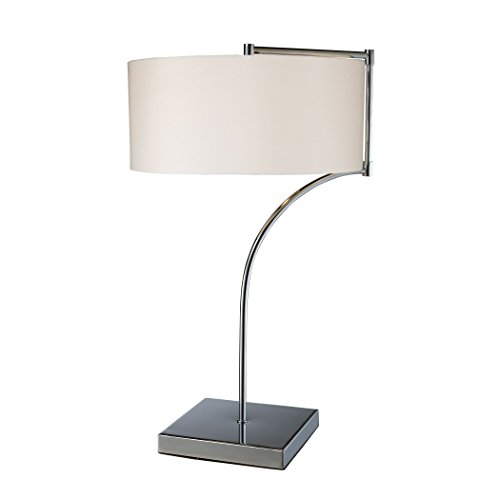 Ben&Jonah Manhattan Collection Lancaster Table Lamp In Chrome With Milano Pure White Shade