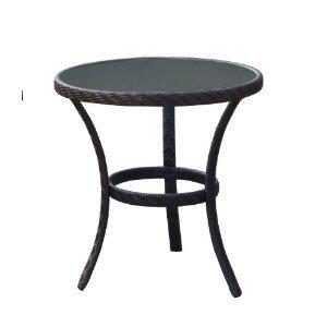 Superb Dunloe Wicker Rattan Conservatory Garden Furniture Bistro 70cm Table