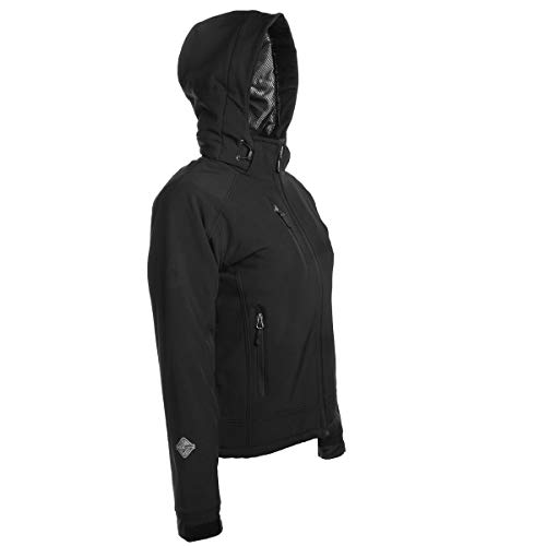 Stormtech H2XTREME Women's Waterproof Softshell Winter Jacket with Hood Black Thermal Coat for Women