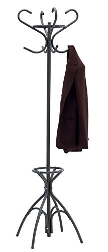 Direct Online Houseware Vintage Style Coat Stand With 8 Hooks In Black Ricomex UK Ltd