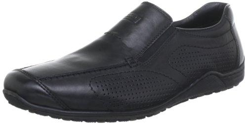 Rieker 08676-00 08676 - Mocasines de cuero para hombre Negro (Schwarz/Nero / 00)