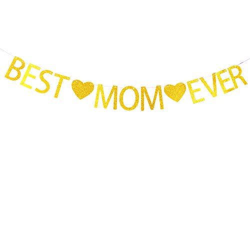 Best mom ever banner for Mother'sday ,mom birthday party decorations -