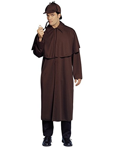 Costume Culture Men's Sherlock Costume, Brown, Standard (Sherlock Holmes Consulting Detective Board Game Review)