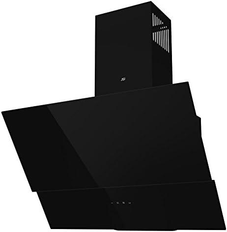 Campana extractora de cristal negro de 60 cm, en ángulo para montar en la pared, modelo JSI-UK 104-60-BL (filtros gratuitos): Amazon.es: Grandes electrodomésticos