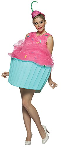 Womens Cupcake Costume (UHC Women's Sweet Eats Cupcake Outfit Funny Theme Party Halloween Fancy Costume, OS)