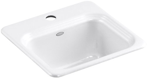 KOHLER K-6579-1-0 Northland Self-Rimming Entertainment Sink, White