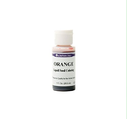 Lorann Oils Liquid Food Color, 1-Ounce, Orange]()