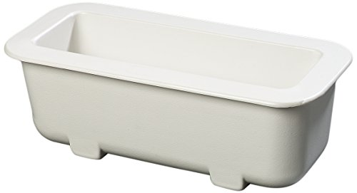 Carlisle CM104302 Coldmaster Half Size Long Insulated Cold Pan Holder, 12.5 Quart Capacity, 6'' Deep, White by Carlisle