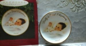 Plate First Christmas (1996 Hallmark Christmas Ornament