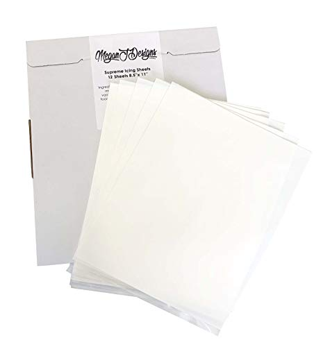 Supreme Icing Sheets 12 Pack Premium White 8.5