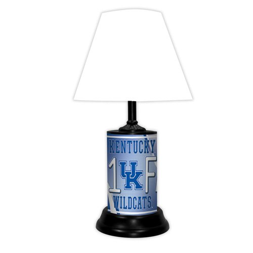 Desk Ncaa Wildcats (Kentucky Wildcats NCAA #1 Fan Team Logo License Plate made Desk Lamp with shade)