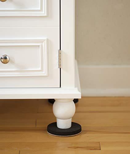 4 Pack Duck Brand 284858 Felt Furniture Sliders for Hard Floors 3.5 Inch Width