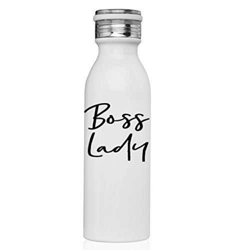 Boss Lady Water Bottle White Stainless Mug Stainless Coffee