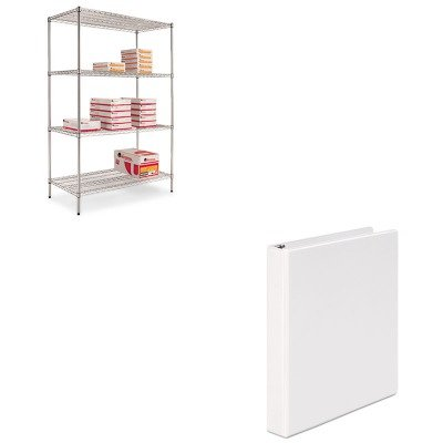 KITALESW504824SRUNV20962 - Value Kit - Best Wire Shelving Starter Kit (ALESW504824SR) and Universal Round Ring Economy Vinyl View Binder (UNV20962) by Best