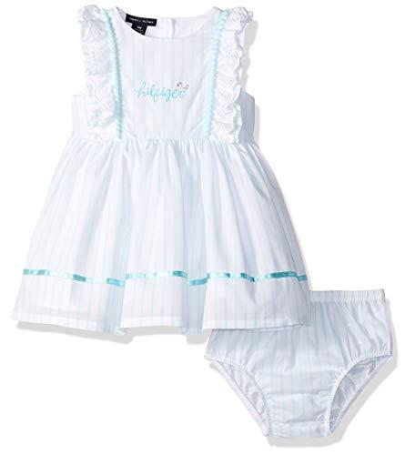 Tommy Hilfiger Baby Girls 2 Pieces Dress Set, Light Blue 3-6 -