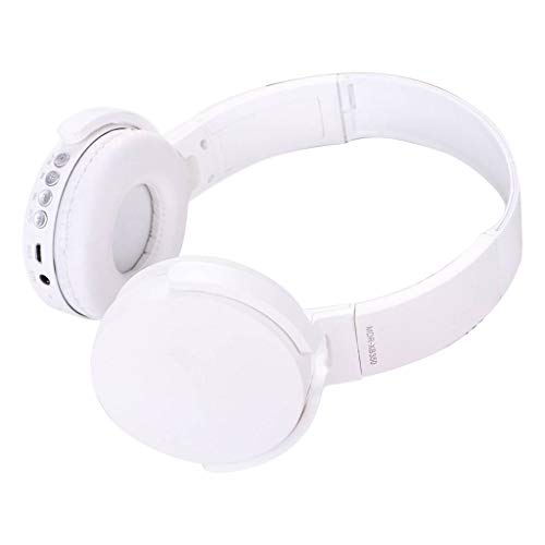 Price comparison product image Wireless Bluetooth Earphone, Sacow with MIC Foldable DJ Headphones 3.5mm Wired Game Earphones (White)