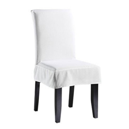 Charmant Amazon.com: Sure Fit Twill Supreme   Shorty Dining Room Chair Slipcover    White (SF39200): Kitchen U0026 Dining