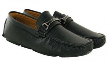 ONS�Shoes MSH 5437 Loafers in Black Moccasins Men Slip Classique Leather Casual WzZO1WYA