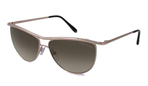 Tom Ford 0182 Helene Gold Frame/Grey Gradient Lens Metal - Ford Glasses Pads Tom Nose