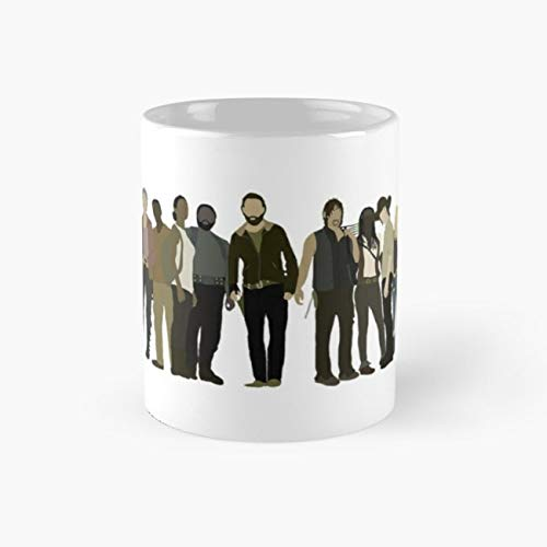 The Walking Dead Cast Mug the walking dead Funny Mugs, 11 Ounce Ceramic Mug, Perfect Novelty Gift Mug, Tea Cups, Funny Coffee Mug 11oz, Tea -
