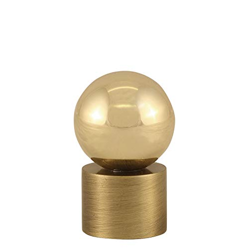 Modern Finial - Polished Brass Ball on Cylinder Finial Contemporary Modern Lighting Lamp Topper Solid Brass