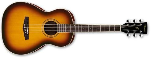 Ibanez PN15 Parlor Size Acoustic Guitar Brown Sunburst