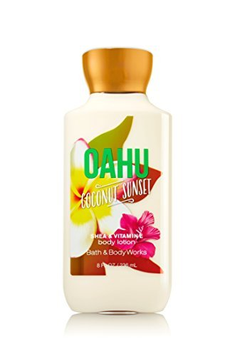 - Bath and Body Works Oahu Coconut Sunset Shea and Vitamin E 8 Ounce Body Lotion