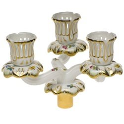 Herend Queen Victoria Triple Candle Arm