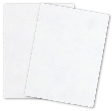 WHITE Parchment Card Stock Cover