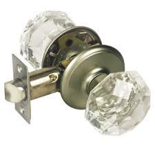 Gainsborough Sonata Crystal Door Knob Set Locking Bed Bath