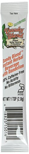 Dandy Blend Instant Herbal Beverage with Dandelion Caffeine Free 25 Single Serving Pouches (Herbal Blends Organic)