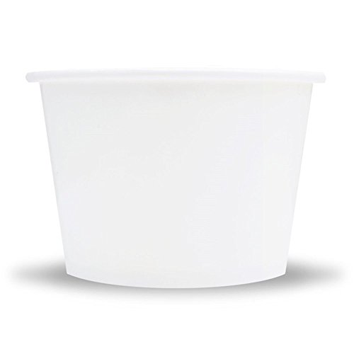 White Paper Ice Cream Cups - 8 oz Dessert Bowls Perfect For Frozen Treats And Yummy Desserts - Many Sizes to Make Your Party Amazing! Fast Shipping! Frozen Dessert Supplies - 1,000 Count