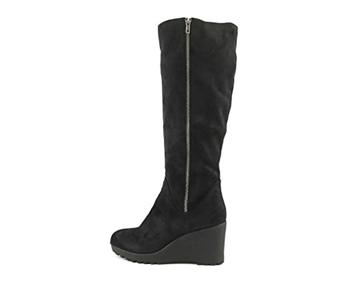Nine West Chillout Women's Black Wedge Boot 8M (Boots Rubber Nine West)