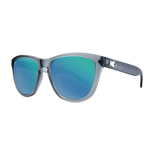 Knockaround Premiums Polarized Sunglasses, Frosted Grey / Green - Sunglasses Knockaround