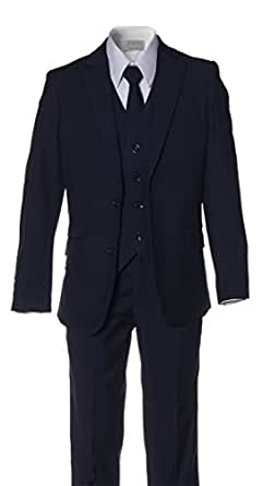 Boys Slim Fit Navy Blue Suit in Toddlers to Boys Sizing (2 Toddlers)