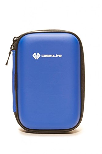 "Case4Life Blue Shockproof Splashproof External Backup Portable 2.5"" Hard Drive Case for Hitachi HGST Touro Mobile Pro, Tour Mobile MX3 500GB, 1TB - Lifetime Guarantee"