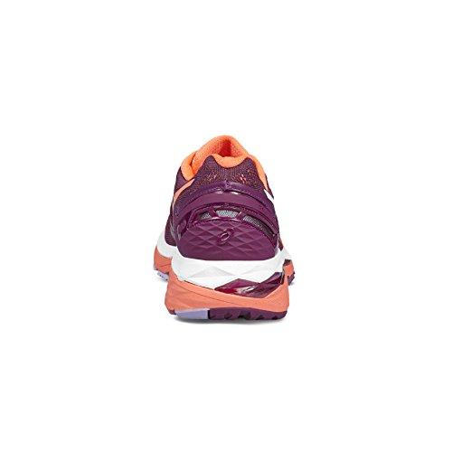 Asics T696n 3206, Zapatillas de Deporte para Mujer Varios colores (Dark Purple /             Flash Coral /             White)