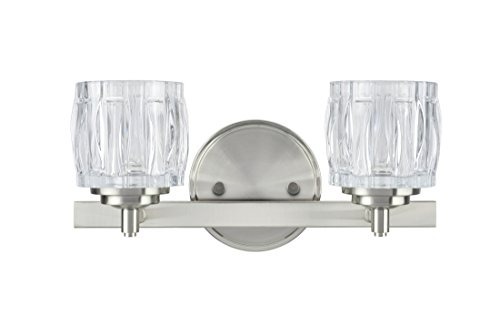Clever Design 48 Inch Bathroom Light Fixture Gorgeous: Amazon.com: Aspen Creative 62110, Two-Light Metal Bathroom