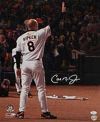 Ripkens Last Game - Cal Ripken Jr Orioles Signed Autograph 16x20 Last Game Pf Photo- JSA Certified