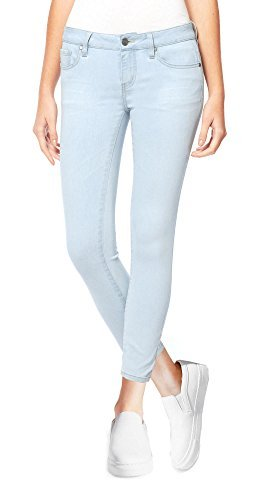 - Buffalo David Bitton Women's Mid-Rise Super Soft Capri Jeans (6/28, Light Blue Denim)