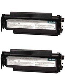 Clearprint 12A7315 Compatible 2-pack of Black Toner Cartridges for Lexmark T420d, T420dn - Laser Printer T420dn
