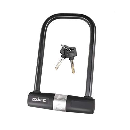Kalmar U-Lock Anti-Theft Lock Glass Door Lock Anti-12 Tons Hydraulic Shear Electric Motorcycle Lock Mountain Bike Accessories U-Lock High Security Lock Best for Bicycle Outdoors
