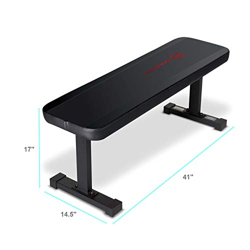 (Marcy Flat Utility 600 lbs Capacity Weight Bench for Weight Training and Ab Exercises)