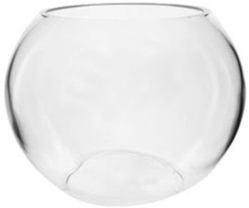 Hosley's 6″ Diameter Glass Bowl. Ideal Gift for Wedding, Special Occasion, Floral Centerpiece Arrangements, Tealight Gardens, Spa & Aromatherapy Settings, DIY Craft Projects O3