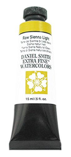 Daniel Smith 284600233DANIEL SMITH Extra Fine Watercolor 15ml Paint Tube, Raw Sienna Light